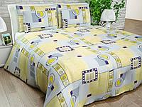 Бязь Gold Жовто-блакитний пастельний з геометричним малюнком 1067-1 yellow
