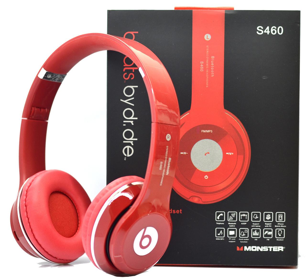 Беспроводные наушники Beats Solo HD S460 Bluetooth с MP3 плеером красные  реплика f7105e68b5ea1