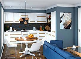 Модульная кухня Blonski Siena, фасады белый глянец