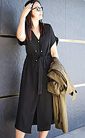 Летнее женское платье миди с запахом