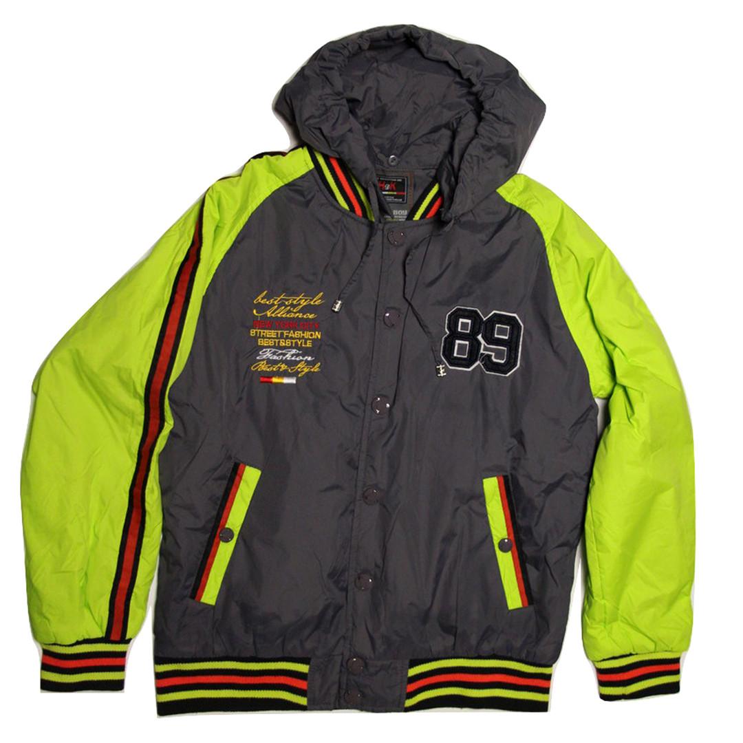 Куртка-бомбер демисезонная для мальчика  12-13 лет серая