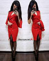 Женский красивый костюм Софи: платье+накидка (расцветки), фото 1