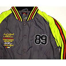 Куртка-бомбер демисезонная для мальчика  12-13 лет серая, фото 2