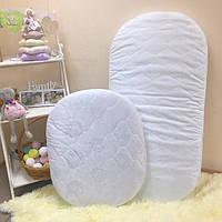 Комплект Матрасов в детскую круглую / овальную кроватку (60/70 см и 120/60 см)