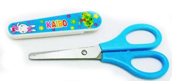 Ножницы детские 37-70 с чехлом (24шт/уп)