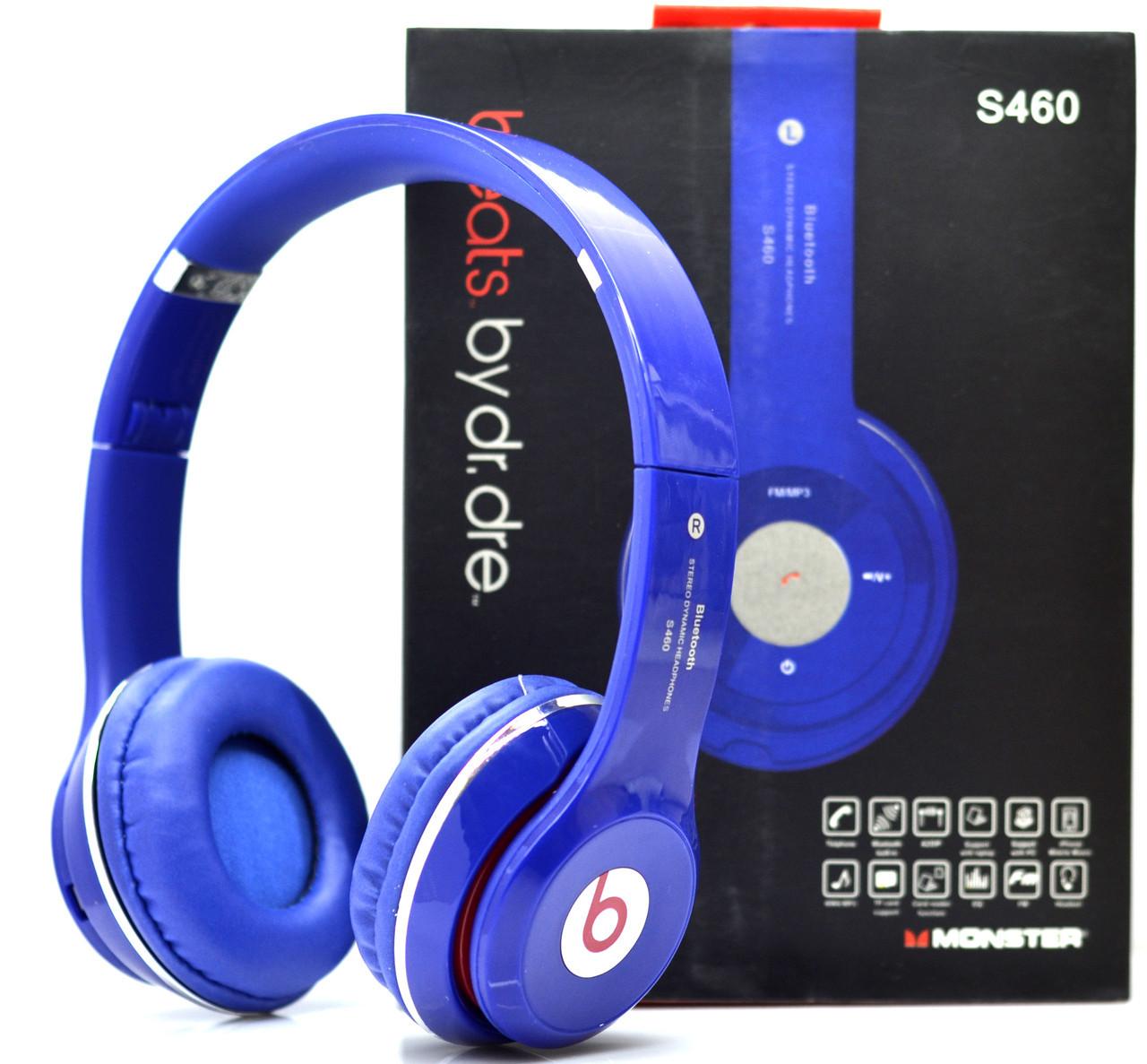 Беспроводные наушники Beats Solo HD S460 Bluetooth blue с MP3 плеером синие  реплика - Интернет- 678589f48b22a
