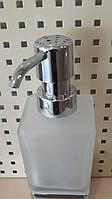 Дозатор диспенсер для жидкого мыла настольный квадратный хром 0524