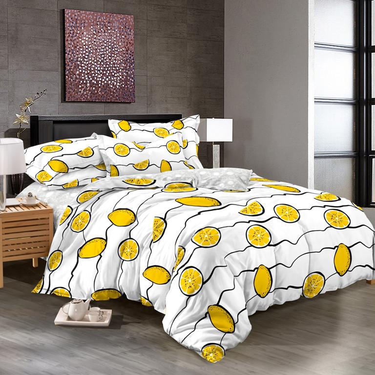 Полуторный комплект постельного белья 150х220 из сатина Лимонное настроение
