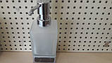 Дозатор диспенсер для жидкого мыла настольный квадратный хром 0524, фото 2
