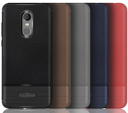 """Чехол под кожу Rugged Armor для для Xiaomi Redmi 5 /5,7"""" / есть стекло"""
