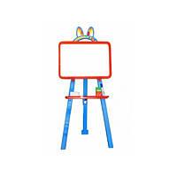 """Мольберт детский для рисования мелом, маркером+магнитная доска, ТМ """"Doloni"""""""