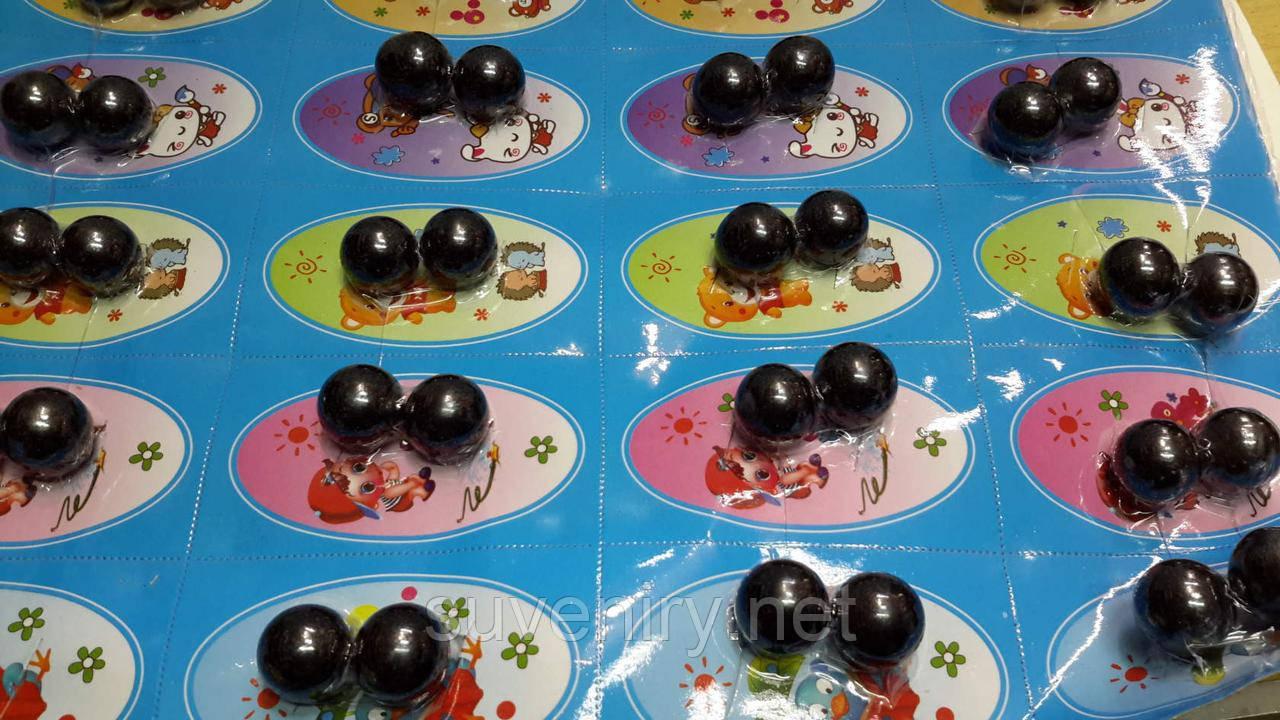 Детские магниты круглые трещетка