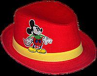 Шляпа детская челентанка нашивка Микки-маус