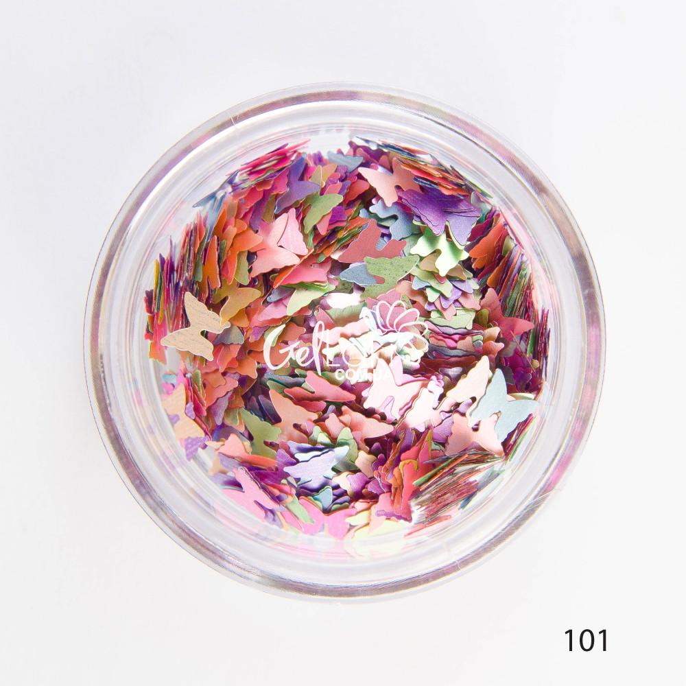 Камифубики (бабочки) для дизайна ногтей (микс цветов), 101