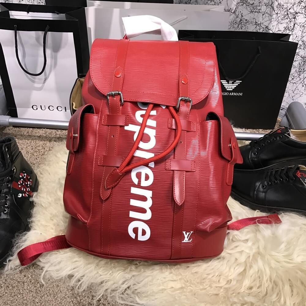 Рюкзак Louis Vuitton x Supreme Christopher Backpack Red, реплика - TopCross  в Львове ee5250bab5e