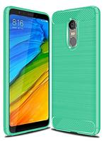 """Силиконовый чехол Carbon для Xiaomi Redmi 5 / на 5,7"""" дюйма диагональ Зеленый"""