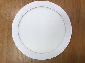 Светодиодный cветильник накладной ультратонкий SL18L 18W 5000K круглый белый Код.59255