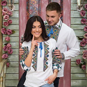 Парные вышиванки мужская рубашка и женская блуза