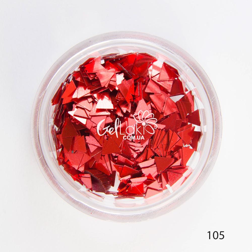 Камифубики (треугольники) для дизайна ногтей (красный), 105