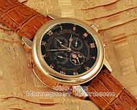 Мужские наручные часы Patek Philippe Sky Moon Tourbillon Gold Black реплика отличное качество Патек Филип