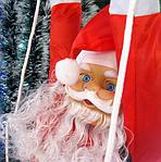 Дед Мороз на лестнице!