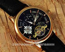Мужские наручные часы Patek Philippe Grand Complications Geneve Tourbillon Gold Black реплика качество Патек