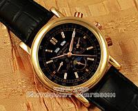 Мужские наручные часы Patek Philippe Grand Complications Perpetual Calendar Gold Black реплика, фото 1