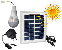 Лампа светодиодная  аккумуляторная от солнечной батареи и от сети RIGHT HAUSEN LED
