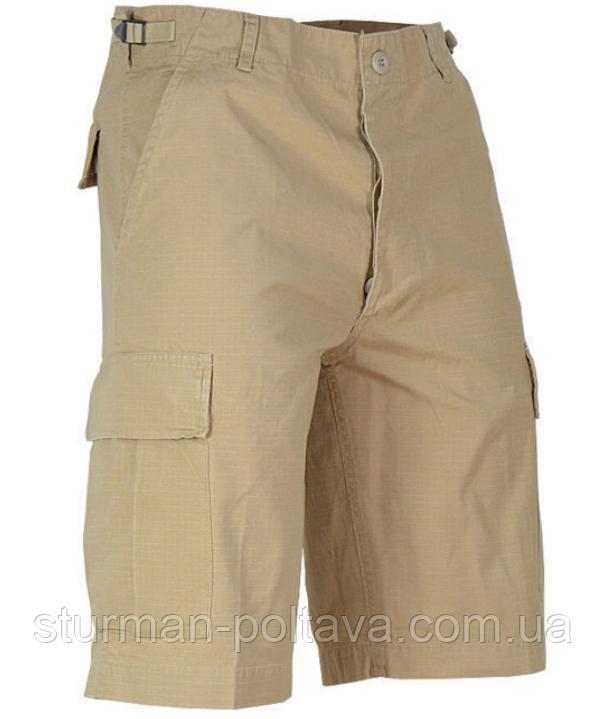 Шорти чоловічі бавовна 100% колір хакі ріп-стоп BERMUDA Mil-Tec Німеччина