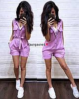 Женский модный комбез с шортами (4 цвета), фото 1