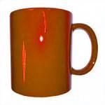 Кружка хамелеон оранжевая для сублимации ( объем 310 мл )