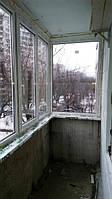 Остекление балконов пластиком Киев, ул. Армянская 11 (бригада №1)