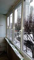 Остекление балкон Rehau в Киеве на ул. Армянской 11