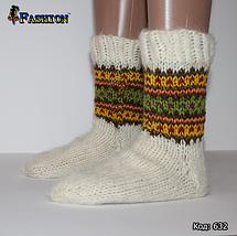 Женские шерстяные носки Зимнее великолепие, фото 3