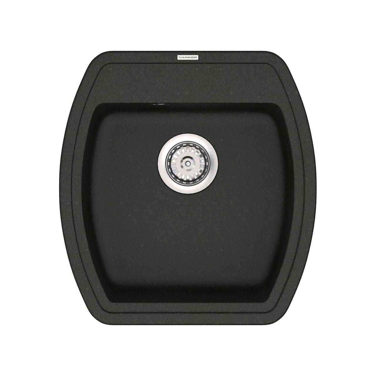 Кухонная мойка кварц 51*48 см VANKOR Norton NMP 01.48 Black