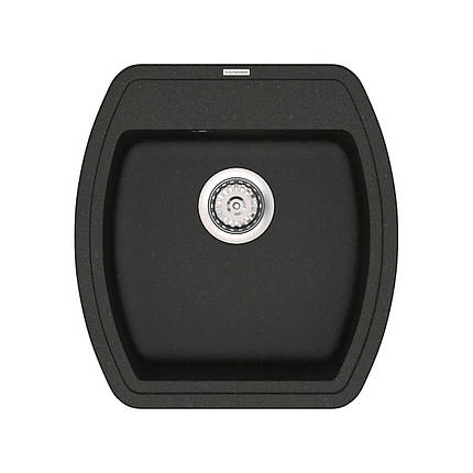 Кухонная мойка кварц 51*48 см VANKOR Norton NMP 01.48 Black, фото 2