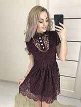 Короткое женское платье из гипюра /разные цвета, 42-46, ft-387/, фото 2