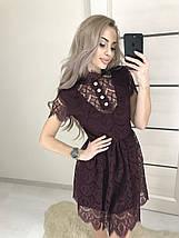 Короткое женское платье из гипюра /разные цвета, 42-46, ft-387/, фото 3