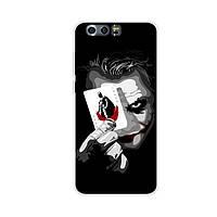 Силиконовый чехол бампер для Huawei Honor 9 с картинкой Джокер