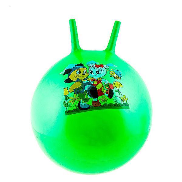 Мяч детский с рожками 55см фитбол для детей