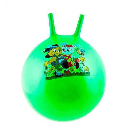 Мяч детский с рожками 55см фитбол для детей, фото 2