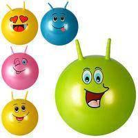 Мяч детский с рожками 55см фитбол для детей, фото 3