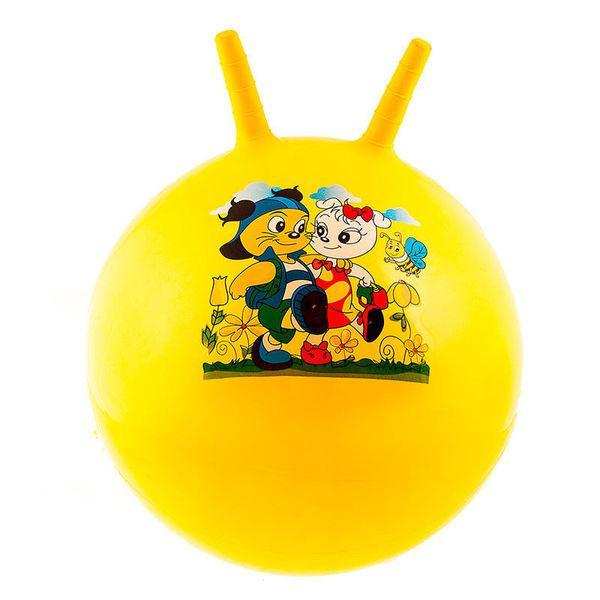 Мяч для фитнеса детский с рожками 55см 25415-8