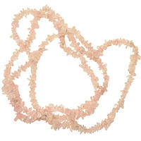 Бусины Сколы Кварц Розовый, Натуральный Камень, Крошка Мелкая, Размер: 4-9*3-5мм. Отв. 1мм. около 85 см. нить