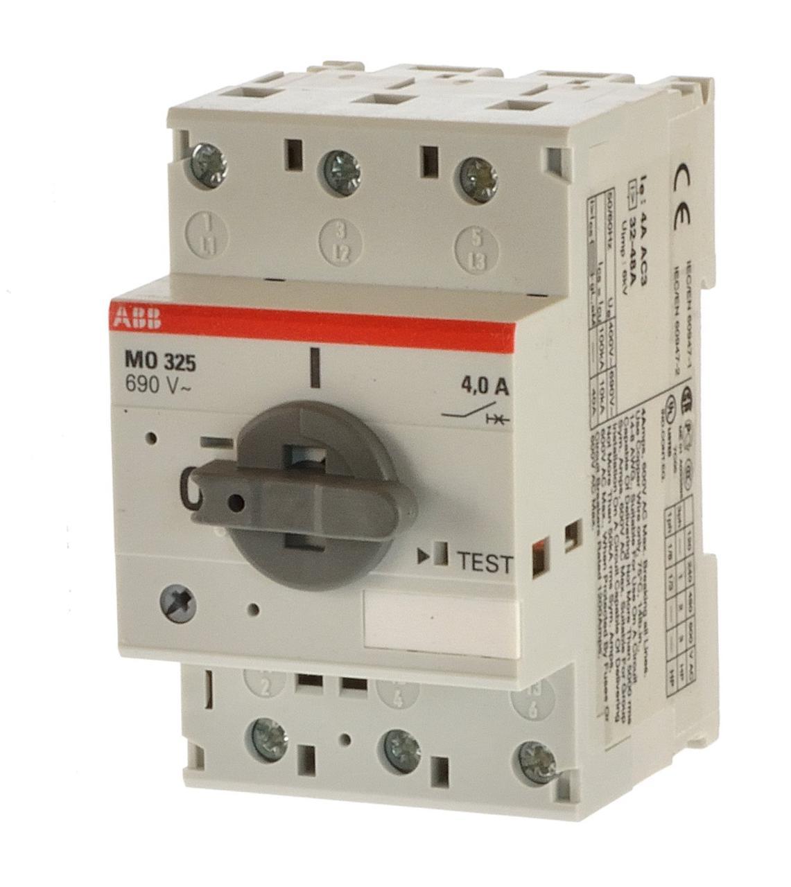 Автомат защиты двигателя ABB MO325-0,63, 1SAM160000R1004