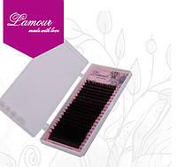 Ресницы Lamour темный шоколад C 0.10 6-13 мм