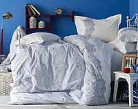 Постельное белье евро Karaca Home Simi mavi
