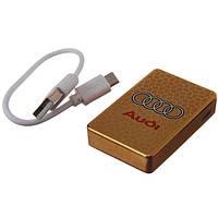 Электроимпульсная зажигалка AUDI большая (USB)
