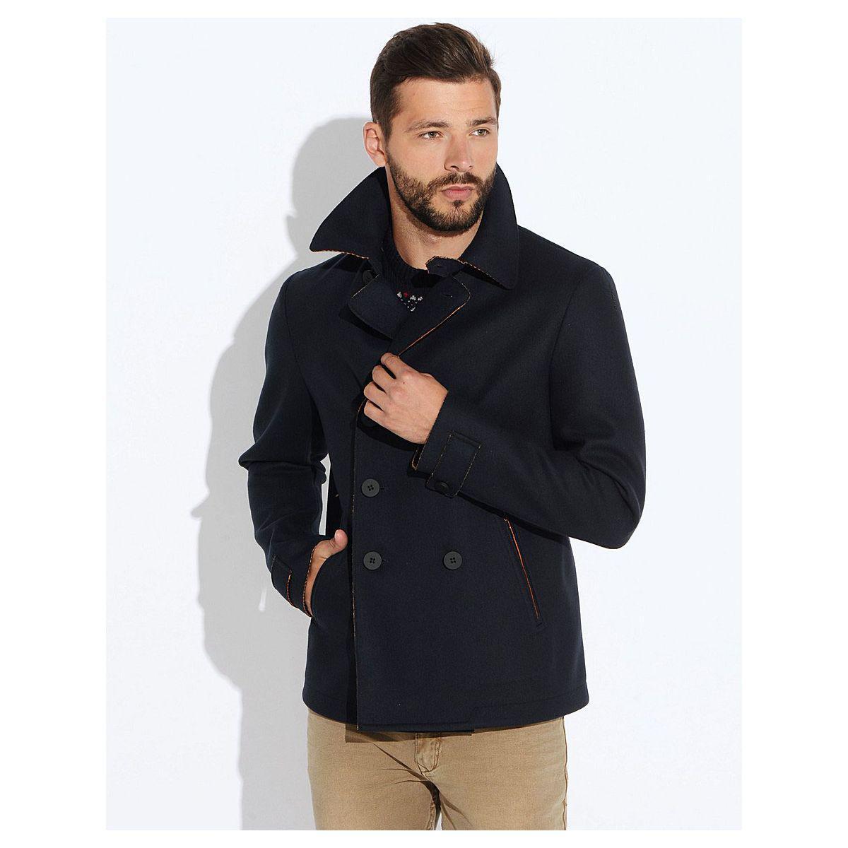 Пальто мужское Geox M5415C DK NAVY LT CARROT - Магазин распродаж  SuperStock.com. e86c635ee0d6c