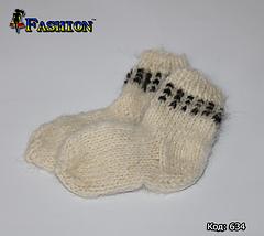 Дитячі вовняні шкарпетки Зимові дні, фото 3